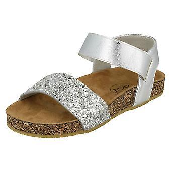 Girls Spot On Glitter Mules - Silver Textile - UK Size 12 - EU Size 30 - US Size 13