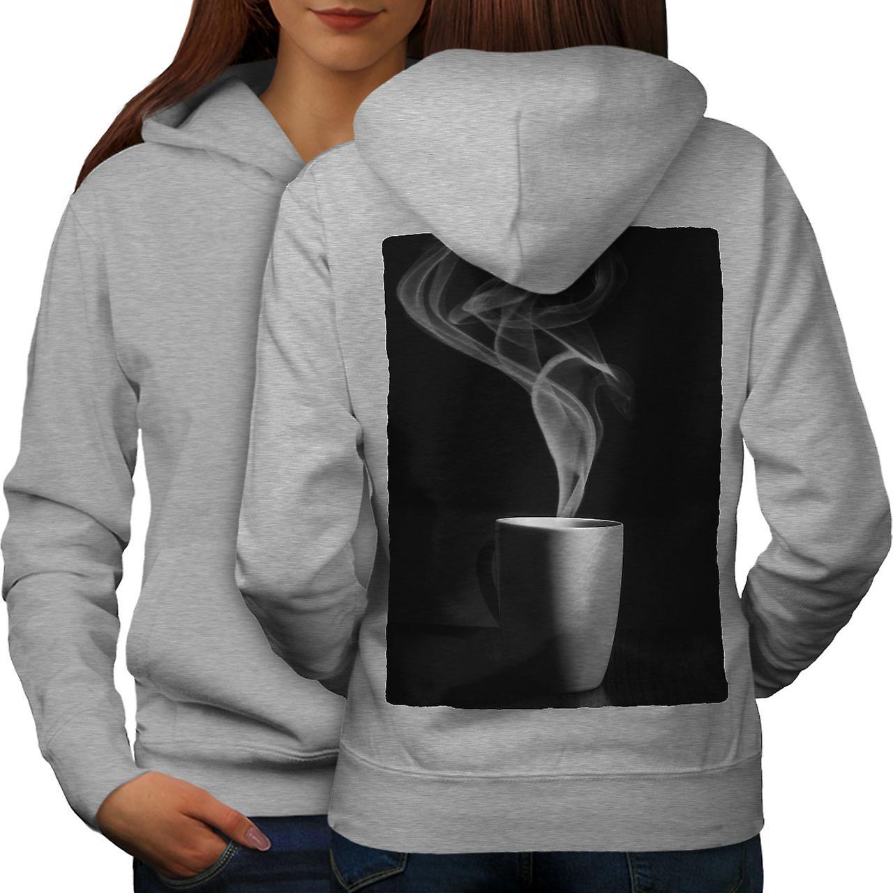 Tasse à café boisson alimentaire femmes grisHoodie dos