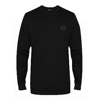 Antony Morato Antony Morato sort Plaque Logo Crew Neck trøje