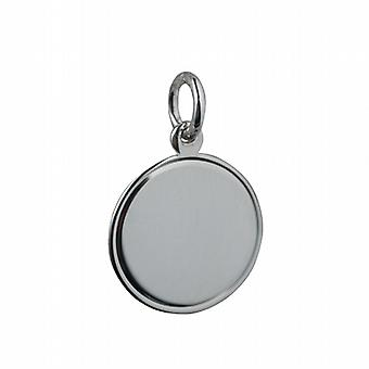 Silver 17mm round engine turned line border Disc