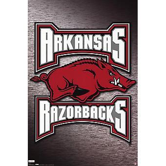Impresión del cartel de la Universidad de Arkansas