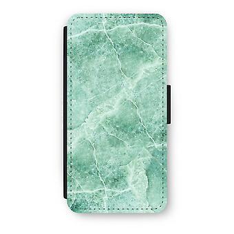 iPhone 8 Flip Case - Green marble