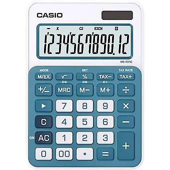 Calucalor Casio MS-20NC-BU Blue Display (digits): 12