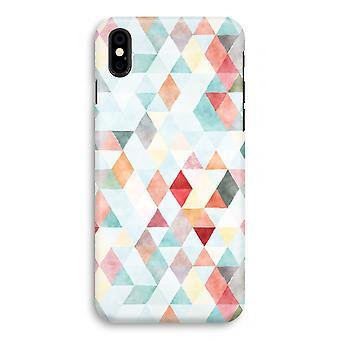 iPhone X Full Print Case - farbige Dreiecke Pastell
