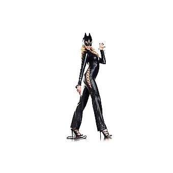 Be Wicked BW1212 3-Piece set Two-faced Catwoman Costume