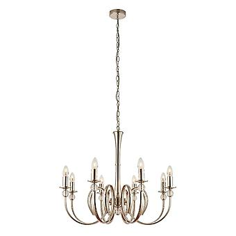 Interiors 1900 Fabia Chandelier 8 Light Nickel Plated With Curved Arms