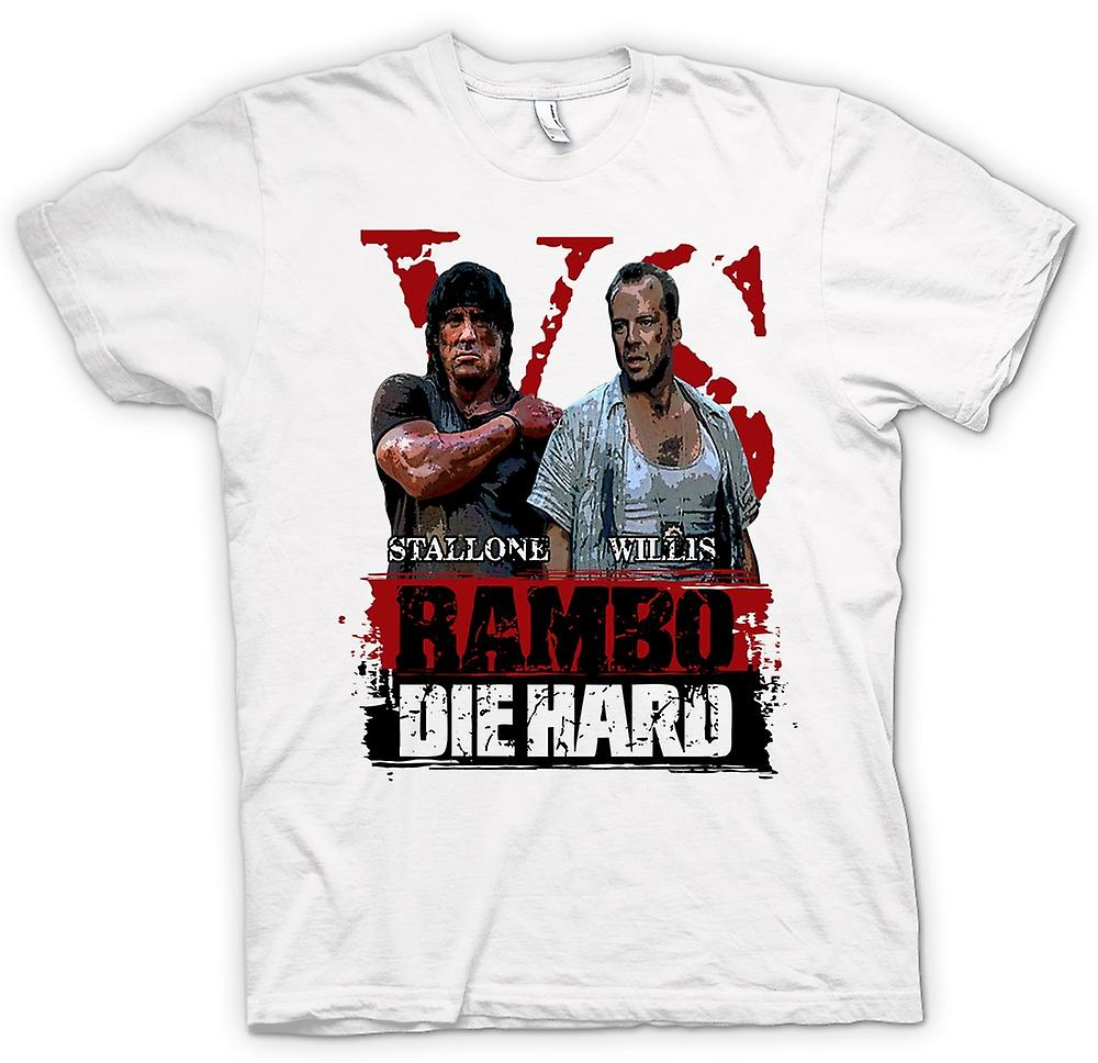 T-shirt des hommes - Rambo V Die Hard - Film d'action - Stallone - Willis
