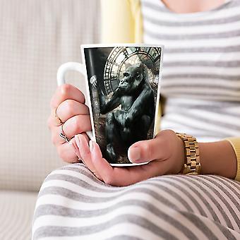 Big Ben Gorilla UK dierlijke nieuwe witte thee koffie keramische Latte Mok 17 oz | Wellcoda