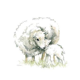 Sheep And Lamb Poster Print by Carol Robinson