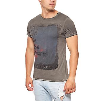 T-Shirt mens darkness gray RUSTY NEAL