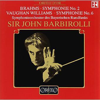 Brahms/Williams - Symphonie No. 2/Symphonie Nº 6 [CD] USA importar