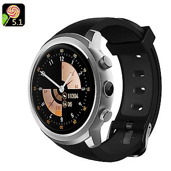 Android 5.1 Smart Watch Phone – MTK 6580 Quad-Core ,8GB ROM, 2.0MP Camera, Pedometer (Sliver)