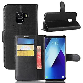 Pocket wallet premium black for Samsung Galaxy A8 plus 2018 A730F protection sleeve case cover pouch new