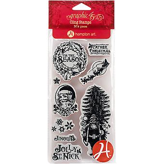 Graphic 45 St Nicholas Cling Stamps-#1
