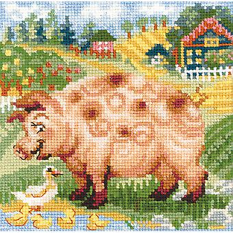 The Farm Piglet Counted Cross Stitch Kit-8