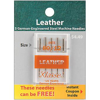 Klasse Leather Machine Needles -Size 12/80 5/Pkg