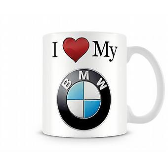I Love My BMW Printed Mug