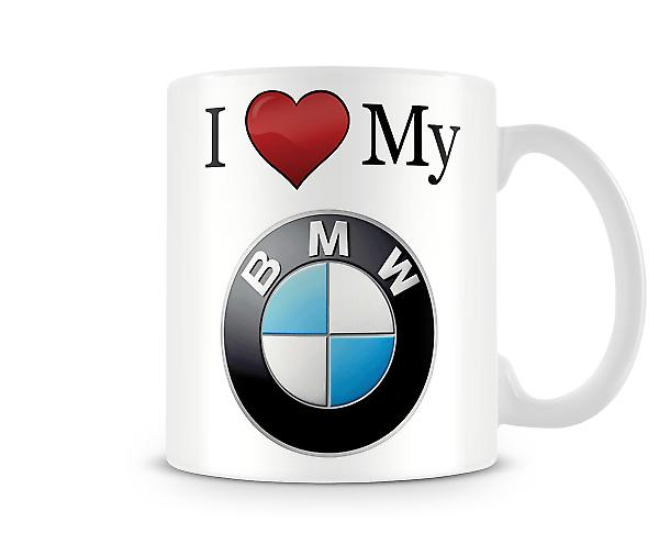 I Love My BMW Printed Mug
