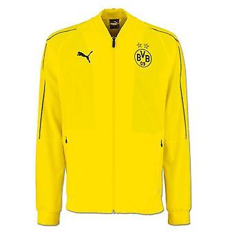 2018-2019 Borussia Dortmund Puma wypoczynek kurtka (żółty)
