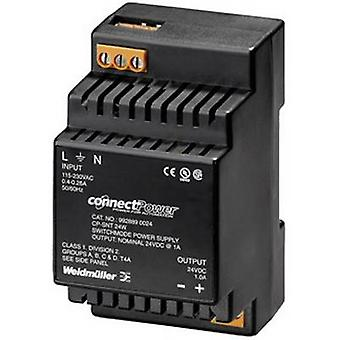 Weidmüller CP SNT 24W 24V 1A Rail mounted PSU (DIN) 24 Vdc 1 A 24 W 1 x