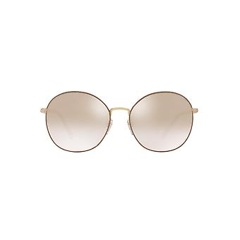 Burberry Large Metal Round Sunglasses In Gold