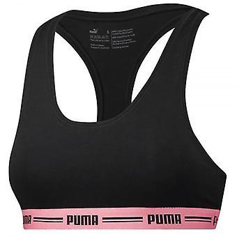PUMA Frauen Baumwoll-Modal Stretch ikonischen Bralette, schwarz / rosa, XS