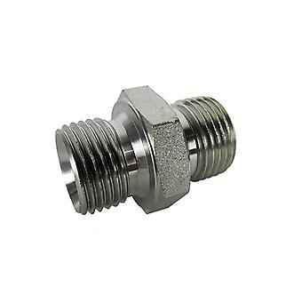 Hydraulic Steel Adaptor Fitting 1 1/2 x 2 Male/Male BSP