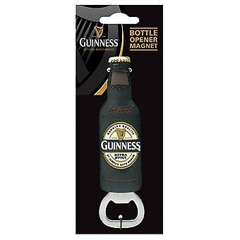 Guinness Black Bottle Shaped Bottle Opener / Fridge Magnet (2158A)