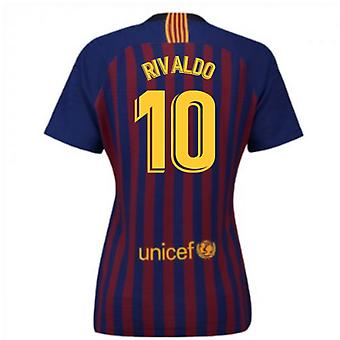 2018-2019 Barcelona Home Nike Damen Shirt (Rivaldo 10)