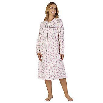 Slenderella ND2210 Women's Luxury Flannel Floral Night Gown Loungewear Nightdress
