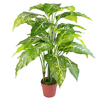 100cm Large Foxs Aglaonema (Spotted Evergreen) Tree Artificial Plant