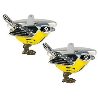 Zennor Bird Cufflinks - Black/Yellow