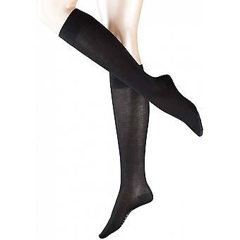 Falke Cotton Touch Knee High Socks - Black