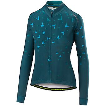 Altura Teal-Blue 2018 Thermo Flock Womens Long Sleeved Cycling Jersey