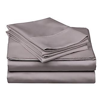 1200 tc-100% エジプト綿のベッド シート セット グレー