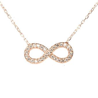 Latelita Delicate Necklace Sterling Silver Eternity Infinity Pendant Rose Gold