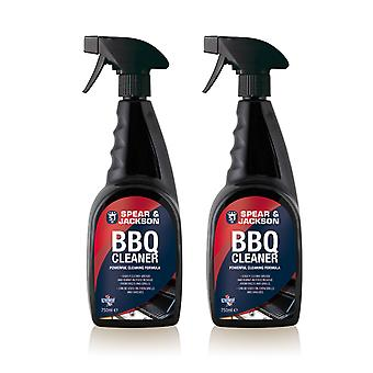 Spear and Jackson 2 x 750ml Ready-to-Use BBQ cleaner - powerful cleaning formula
