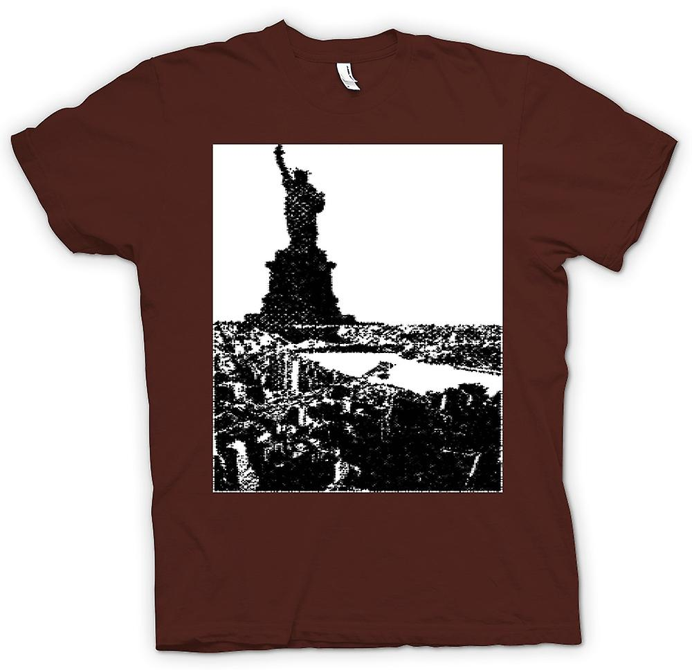 Mens t-skjorte-USA Statue of Liberty Art
