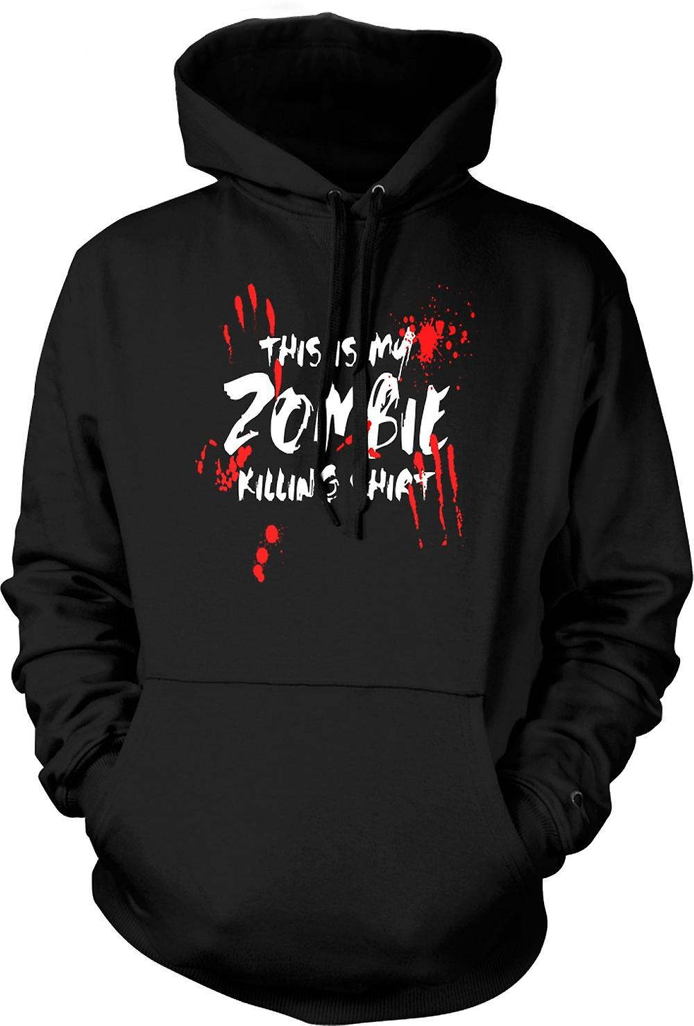 Mens Hoodie - This Is My Zombie Killing - Funny
