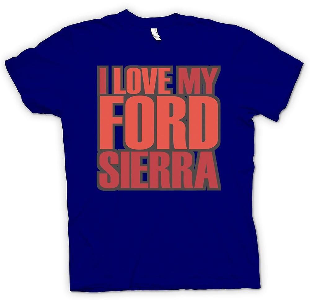 Mens t-shirt - amo mia Ford Sierra - appassionato di auto