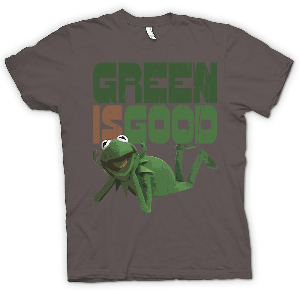Mens T-shirt - Green Is Good - Kermit - Muppet Show Inspired