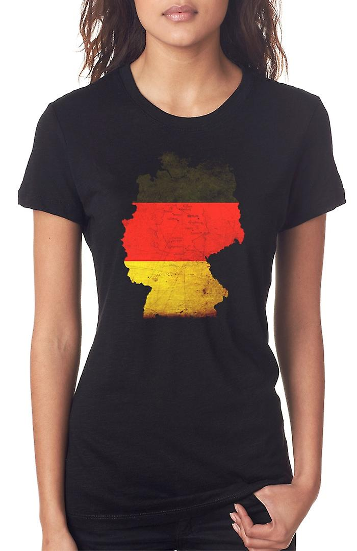 German Germany flag Map Ladies T Shirt