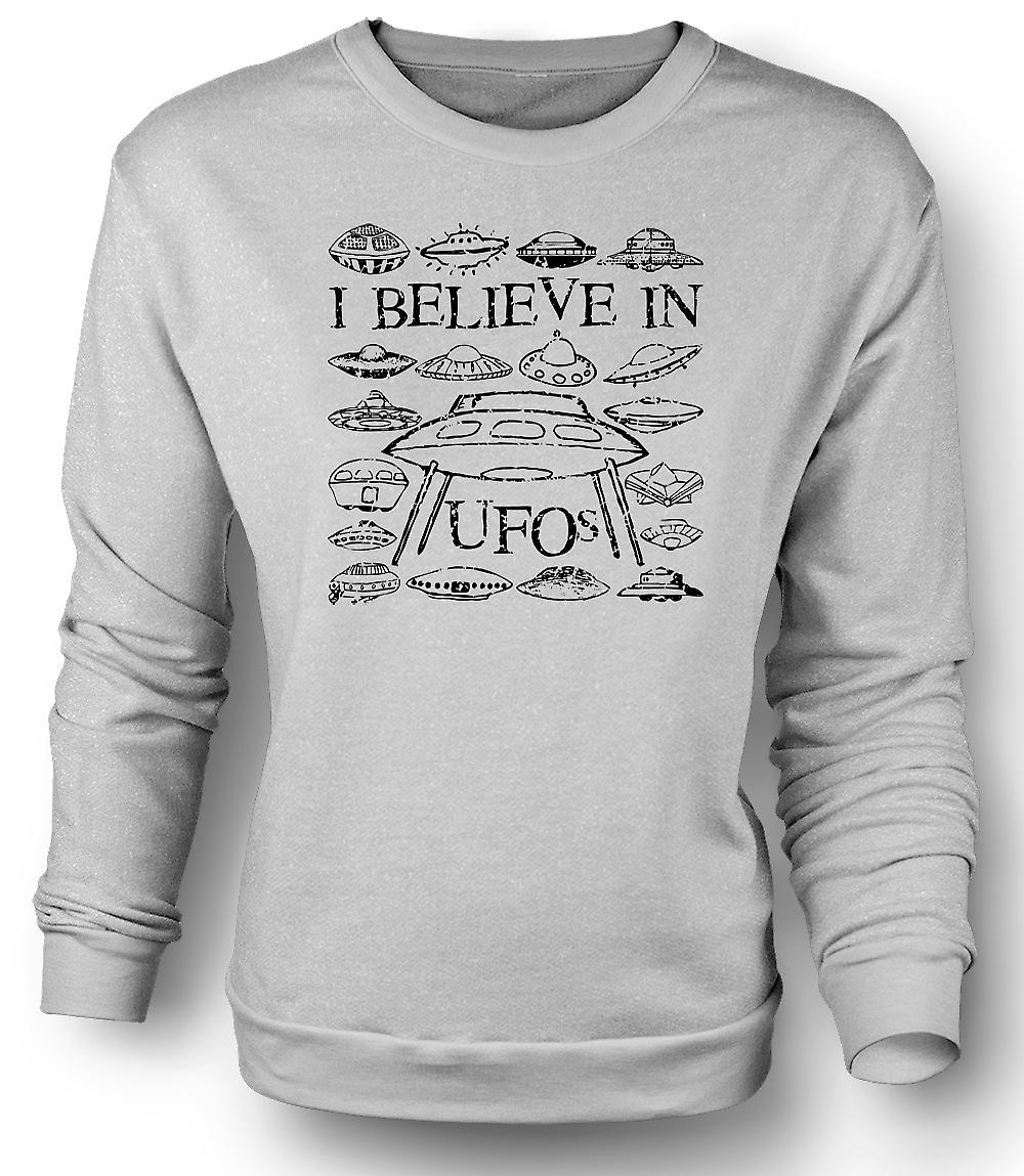 Mens Sweatshirt I Believe In UFOs - Funny
