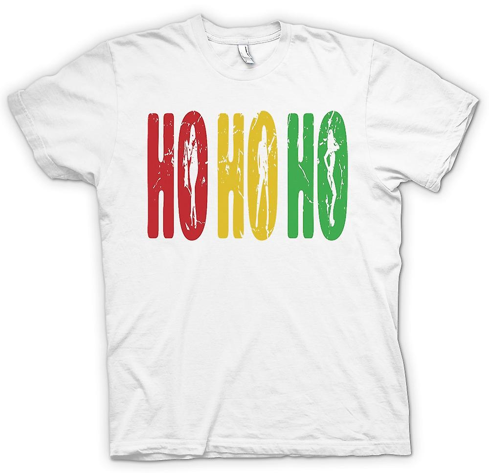 Mens T-shirt - Ho Ho Ho - Funny But Crude Santa