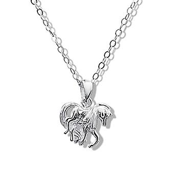 Jo For Girls Sterling Silver Horse Pendant Necklace 14