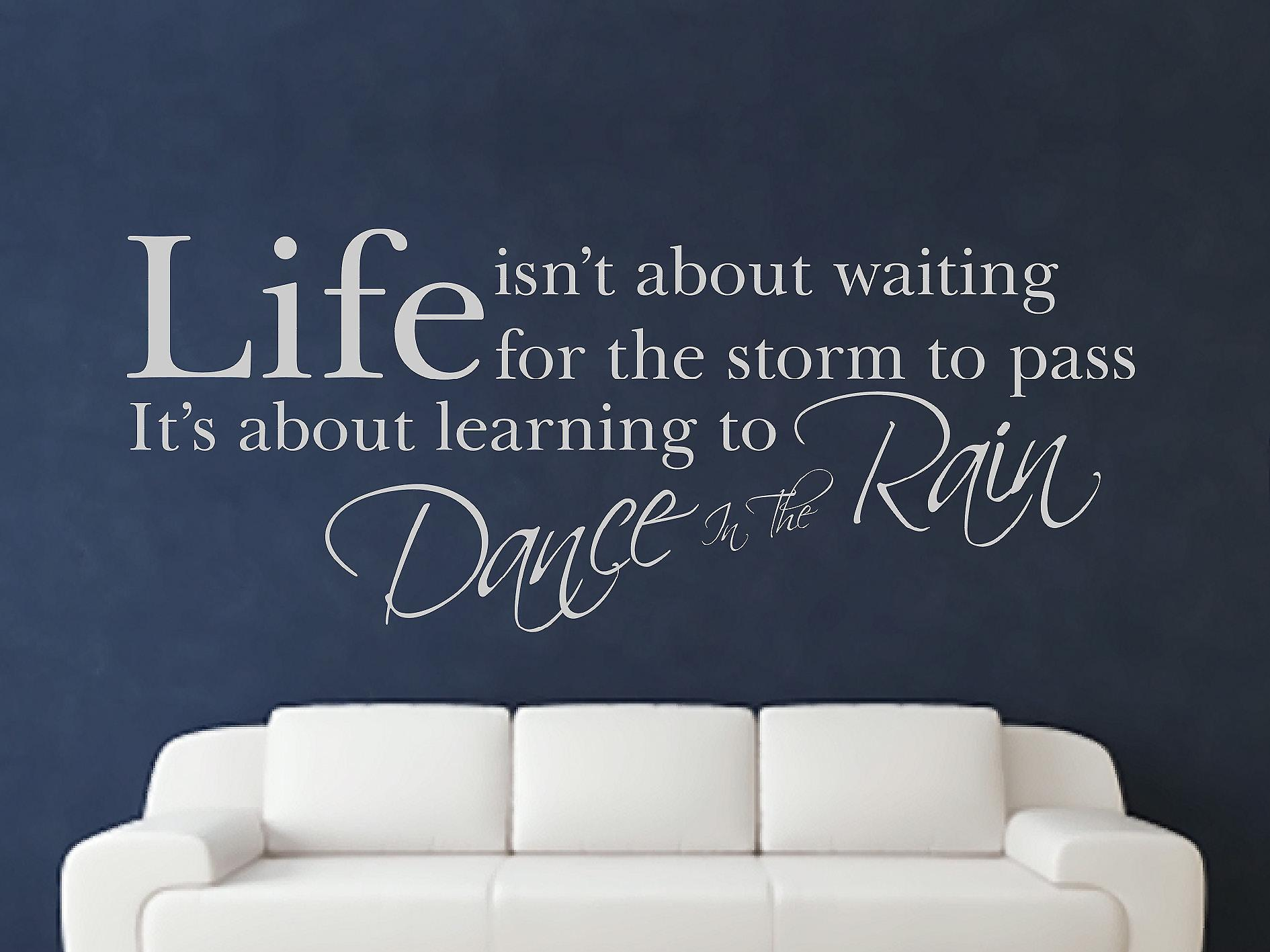 Dance In The Wall Sticker Art de pluie - Gris