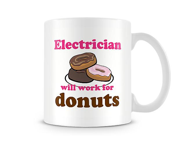 Electrician Work For Donuts Mug