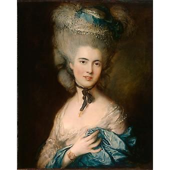 Woman in Blue, Thomas Gainsborough, 50x40cm