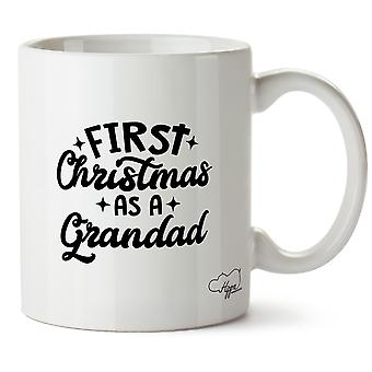 Hippowarehouse First Christmas As A Grandad Printed Mug Cup Ceramic 10oz