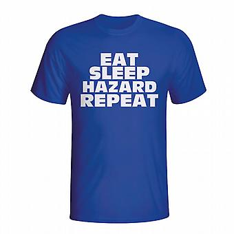 Eat Sleep Hazard Repeat T-shirt (blue)